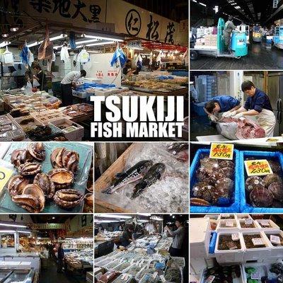 Район Токио рынок Цукидзи