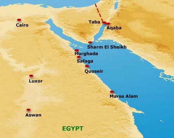 Карта Марса Алам, Египет