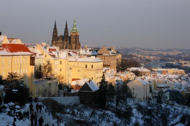 Прага зимой.Чехия