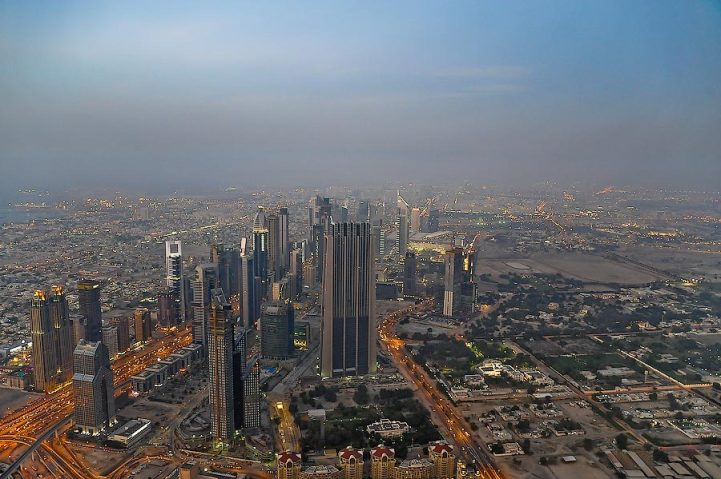 Вид с небоскреба Бурдж-Халифа