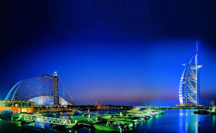 Город Дубаи в Объединенных Арабских Эмиратах