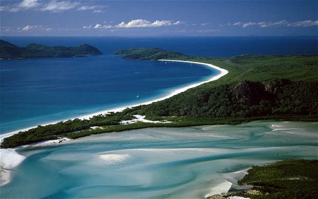 Пляж Whitehaven Австралия