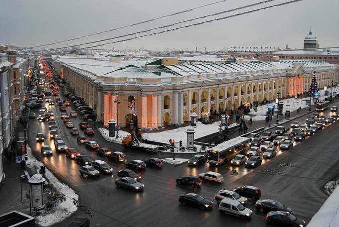 Вид на Санк-Петербург