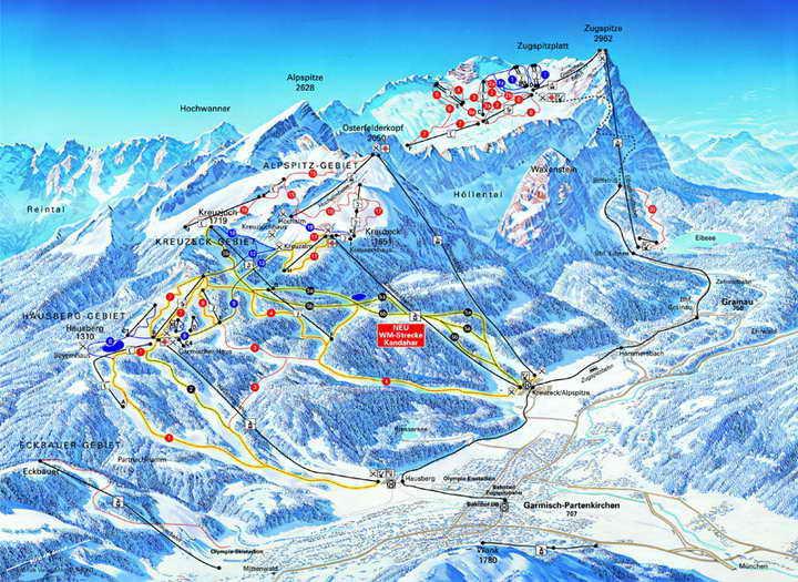 Лыжный курорт Германии Гармиш-Партенкирхен