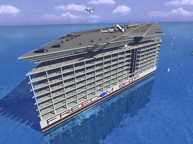 Современный круизный лайнер Freedom