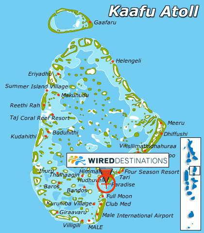 Карта Мальдивов