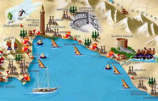 Курортное побережье Анталия