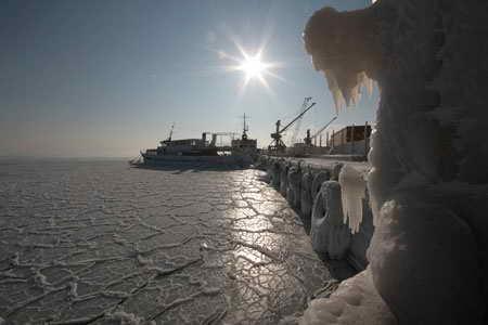 Черное море Румыния Зима