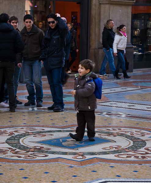 Феска быка в центре Милана