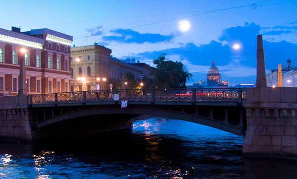 Поцелуев мост Санкт-Петербург Россия Европа