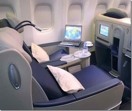 места бизнес-класса в самолете фото