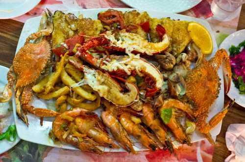 Блюда в ресторане Наама Бей