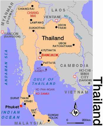 Тайланд Карта