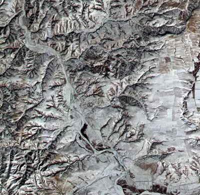 Великая Китаяская стена Вид из космоса