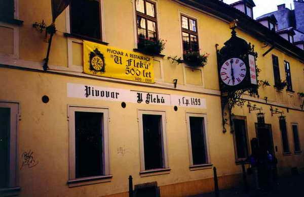 Чехия Прага пивная U Fleku
