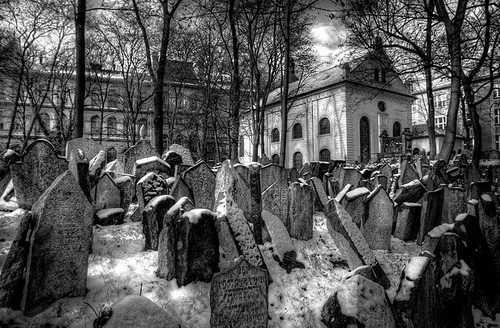 Прага, кладбище евреев