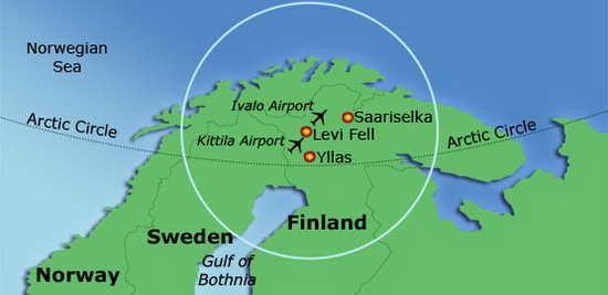 Лапландия карта