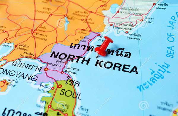 Северная Корея карта